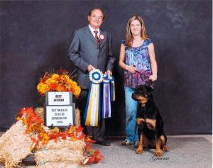 female rottweiler wins best alterted female